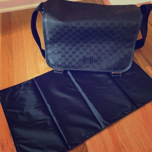186a457c9ea228 Gucci Handbags - Gucci Imprime Monogram Messenger Diaper Bag-Black